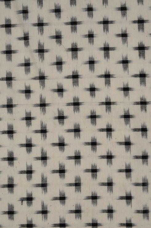 Black & White Cotton Ikat 11 Fabric