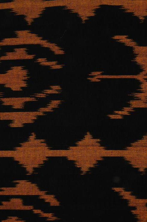 Black Yellow Cotton Ikat 058 Fabric