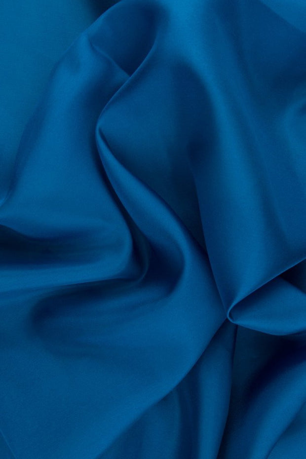 Blue Green Habotai Silk Fabric