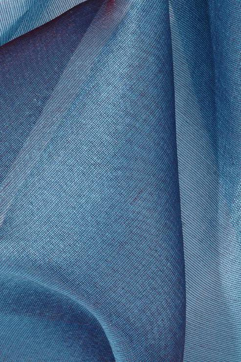 Blue Green Silk Organza Fabric