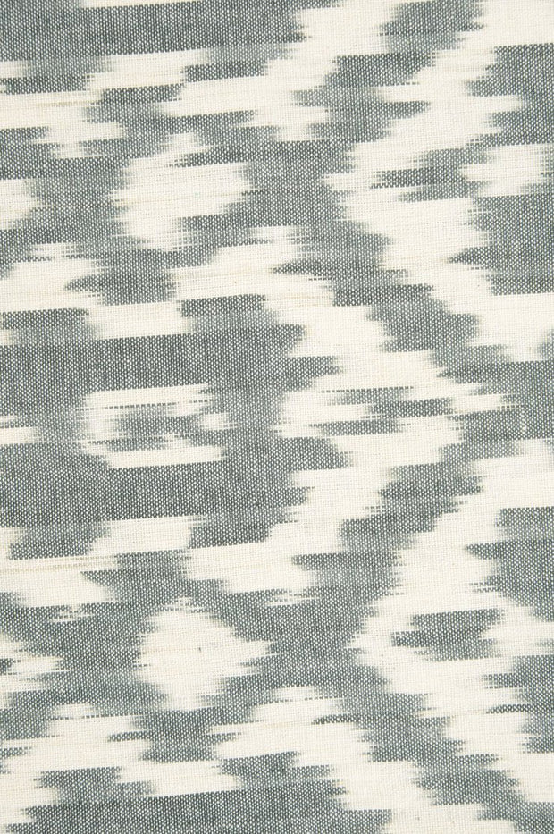 Blue Grey Cotton Ikat 042/4 Fabric