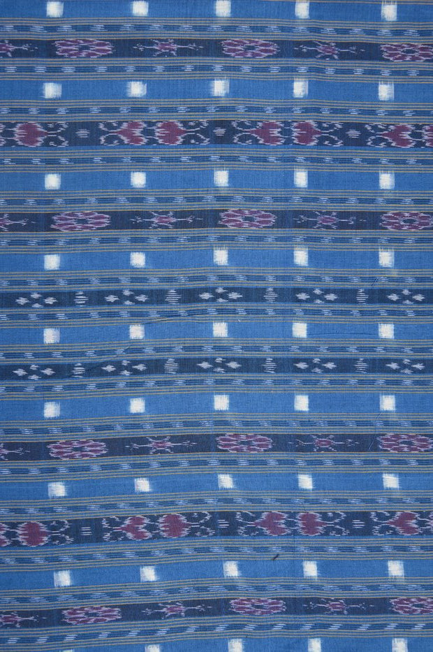 Blue Cotton Ikat 136 Fabric