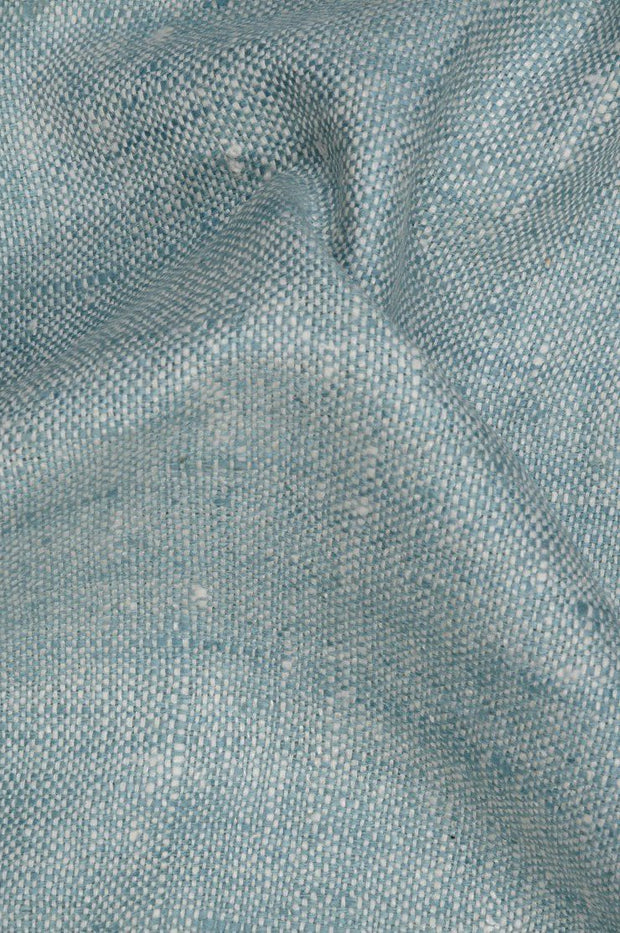 Blue Silver Silk Linen (Matka) Fabric