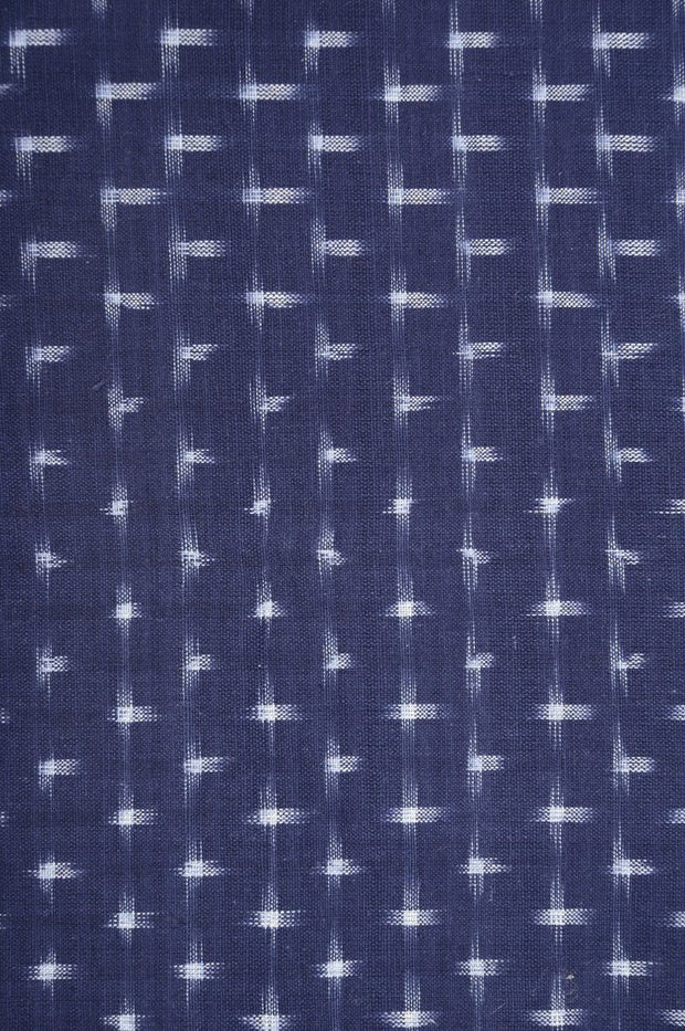 Blue White Cotton Ikat 011 Fabric