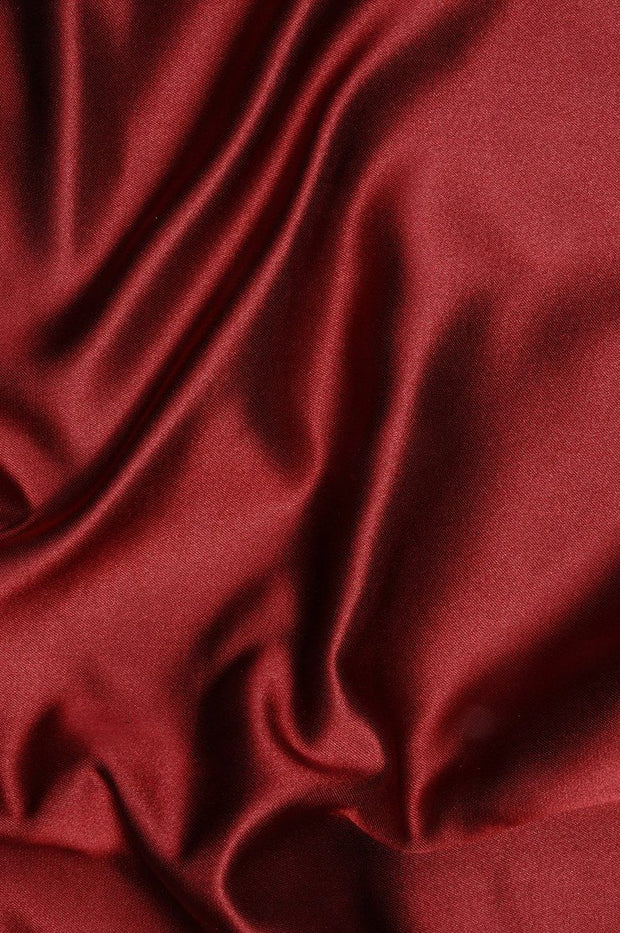 Brick Red Double Face Duchess Satin Fabric