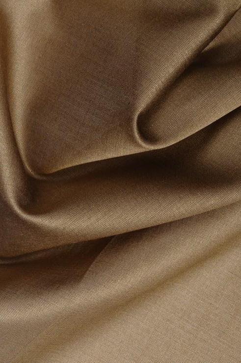 Bronze Cotton Silk Fabric