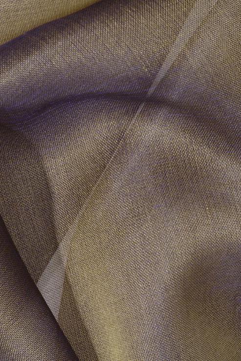 Bronze Olive Green Silk Organza Fabric