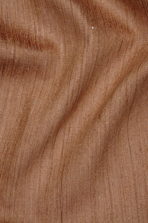 Brown Sugar Katan Matka Silk Fabric