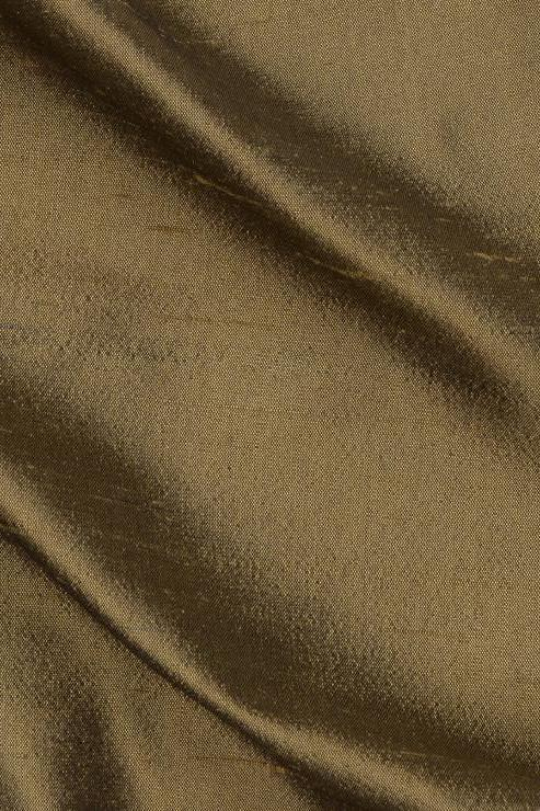 "Burnished Gold Silk Shantung 54"" Fabric"