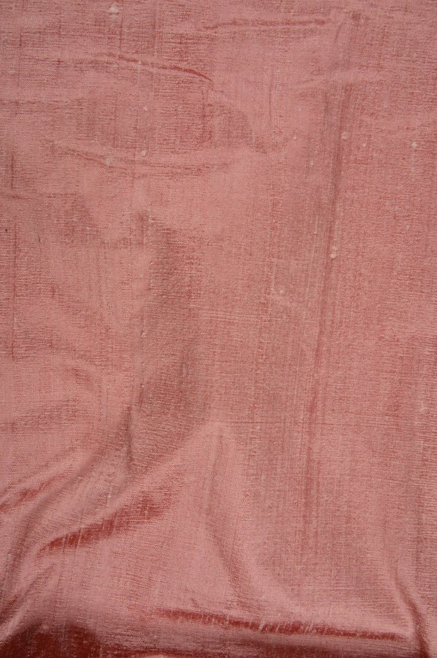 Burnt Coral Dupioni Silk Fabric