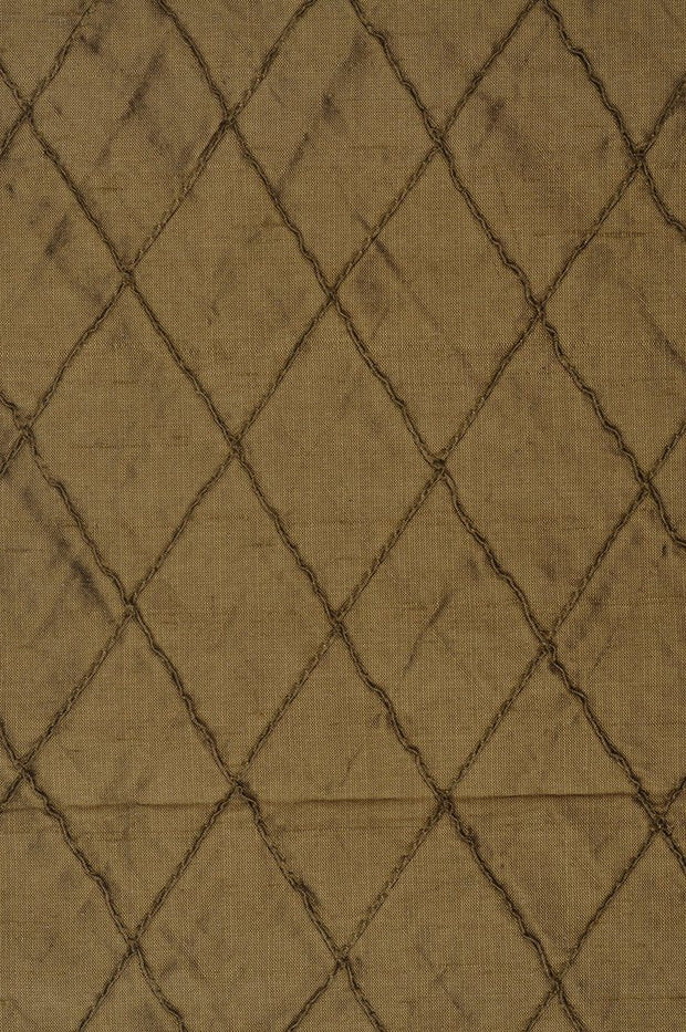 Butternut Embroidered Dupioni Silk 204 Fabric