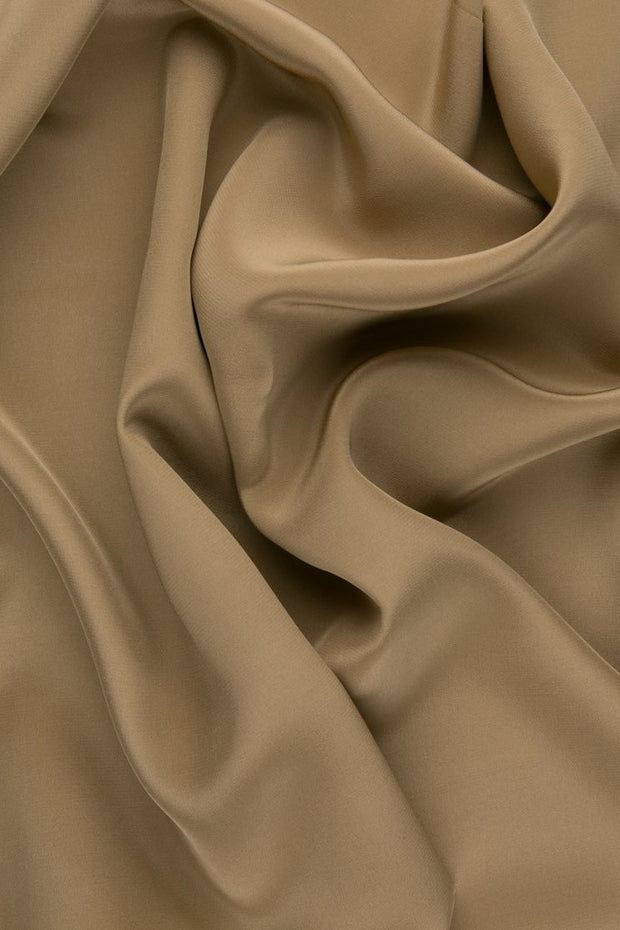 Camel Silk Crepe de Chine Fabric
