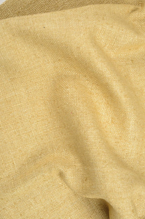Camel Gold Silk Linen (Matka) Fabric