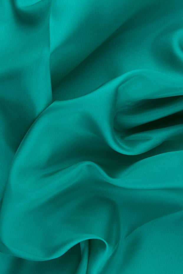 Caribbean Green Habotai Silk Fabric