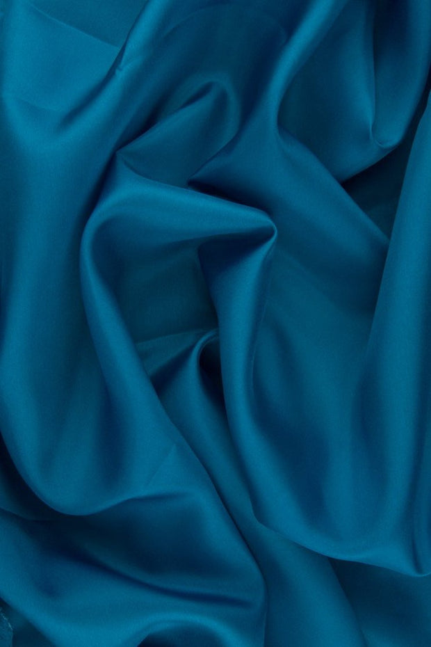 Caribbean Sea Blue Habotai Silk Fabric