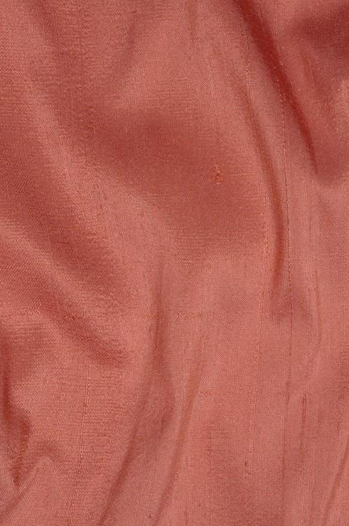 Carmine Rose Pink Dupioni Silk Fabric