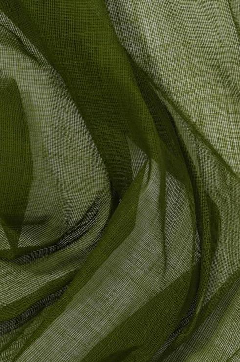 Cedar Green Cotton Voile Fabric