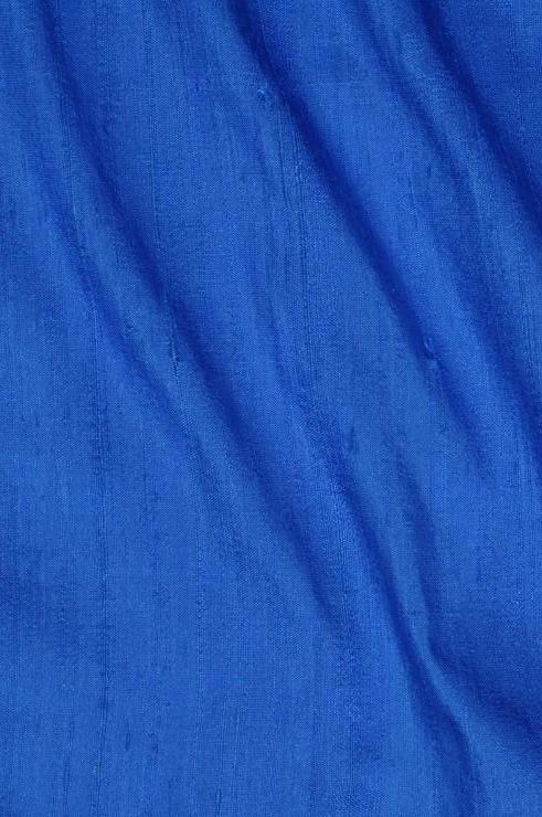 Cerulean Blue Dupioni Silk Fabric
