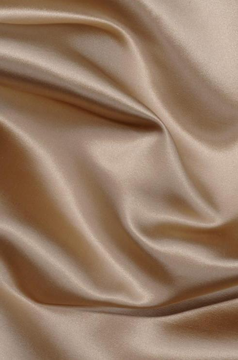 Champagne Beige Silk Duchess Satin Fabric