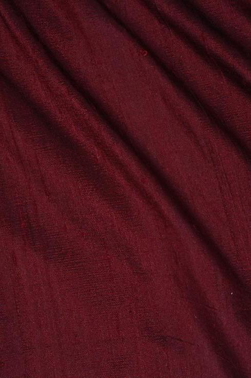Cherrywood Brown Dupioni Silk Fabric
