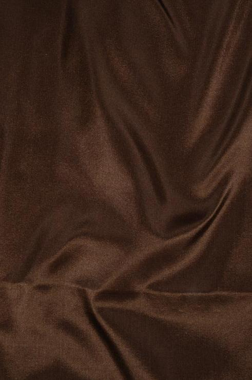 Chestnut Brown Taffeta Silk Fabric