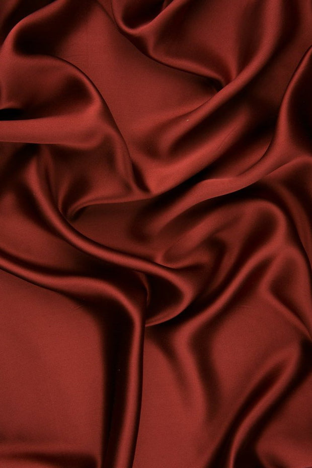 Cinnabar Charmeuse Silk Fabric