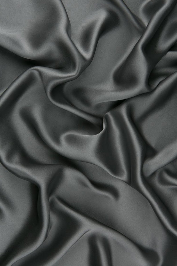 Cloudburst Charmeuse Silk Fabric