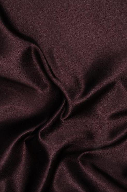 Coffee Bean Double Face Duchess Satin Fabric