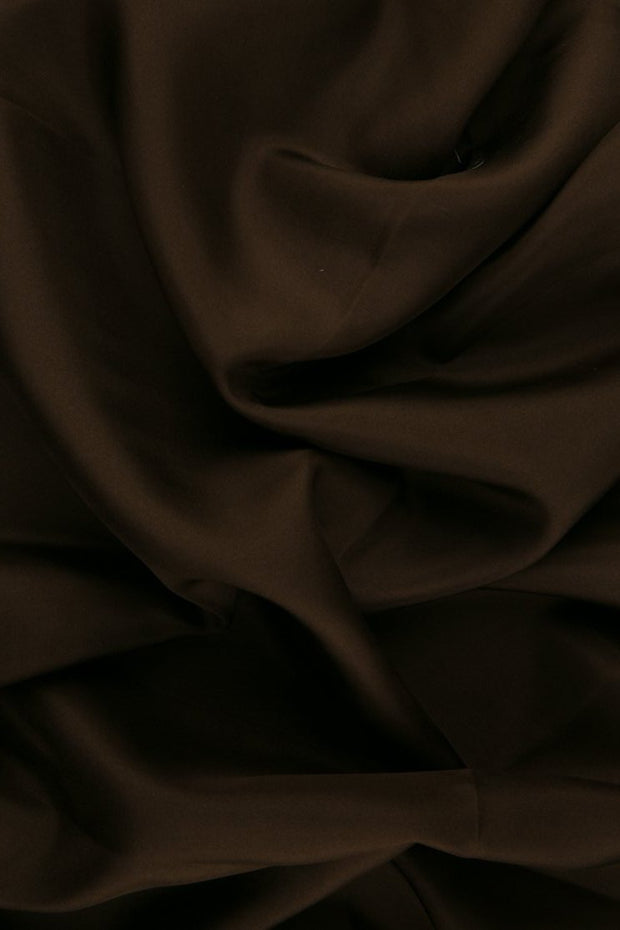 Copper Brown Habotai Silk Fabric
