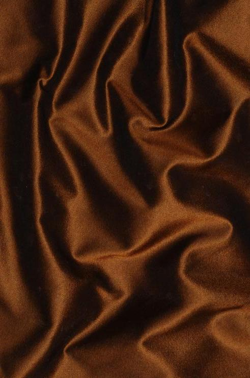 Copper Red Taffeta Silk Fabric