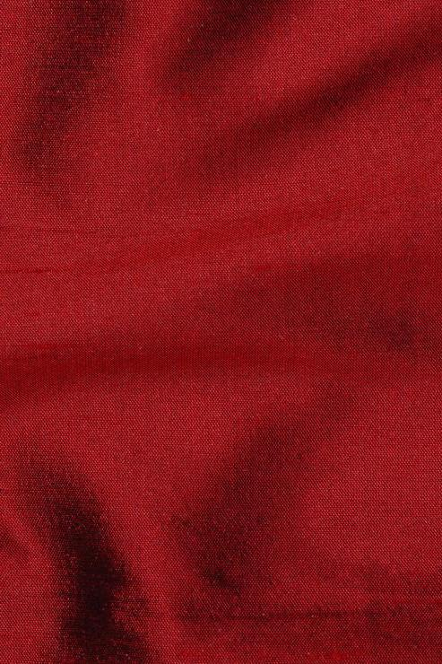 "Currant Red Silk Shantung 54"" Fabric"
