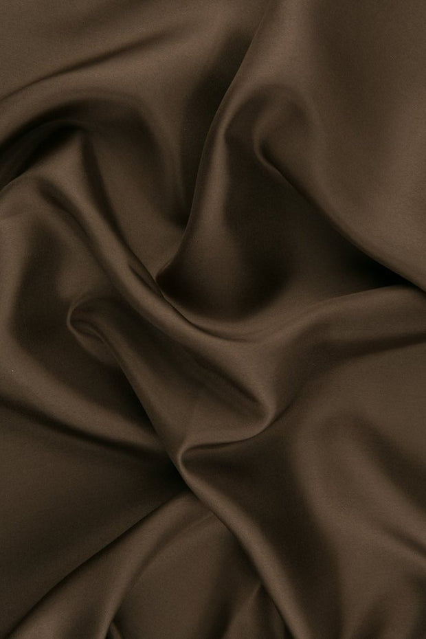 Dark Beige Habotai Silk Fabric
