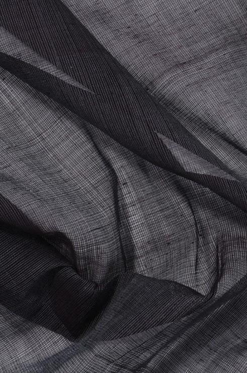 Dark Grey Purple Cotton Voile Fabric
