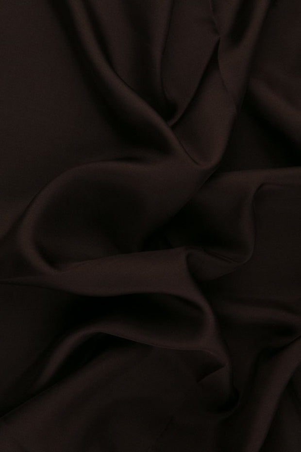 Dark Merlot Habotai Silk Fabric