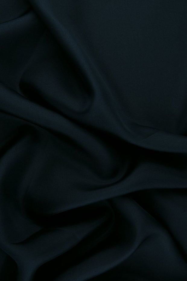 Dark Navy Habotai Silk Fabric