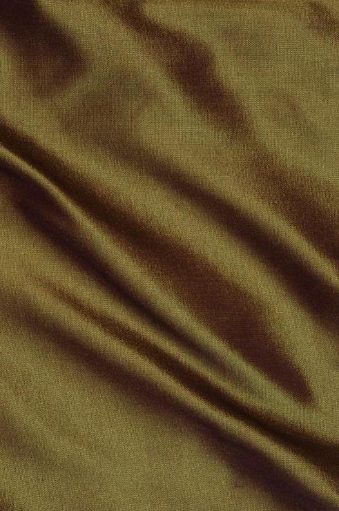 Dark Olive Green Taffeta Silk Fabric