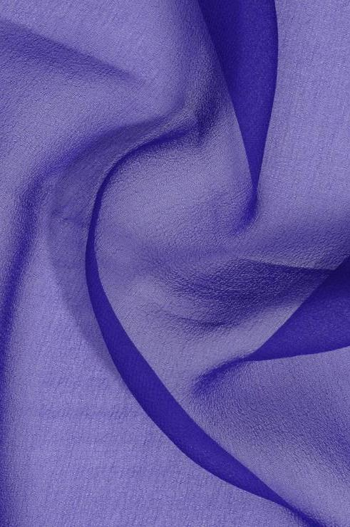 Dark Royal Blue Silk Georgette Fabric