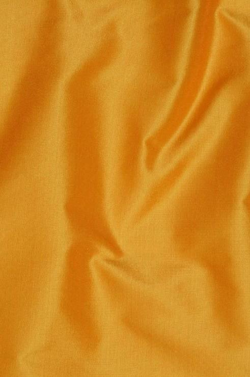 Dark Saffron Yellow Taffeta Silk Fabric