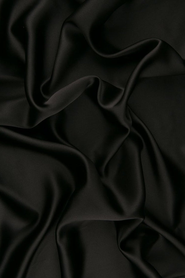 Dark Shadow Charmeuse Silk Fabric
