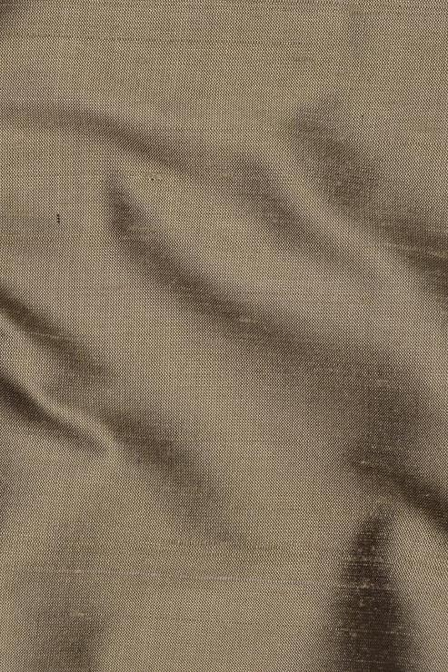 "Dark Taupe Silk Shantung 54"" Fabric"