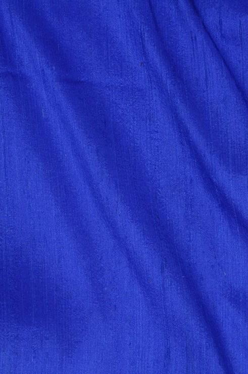 Dazzling Blue Dupioni Silk Fabric