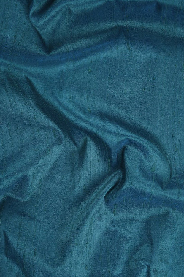 Deep Lake Dupioni Silk Fabric