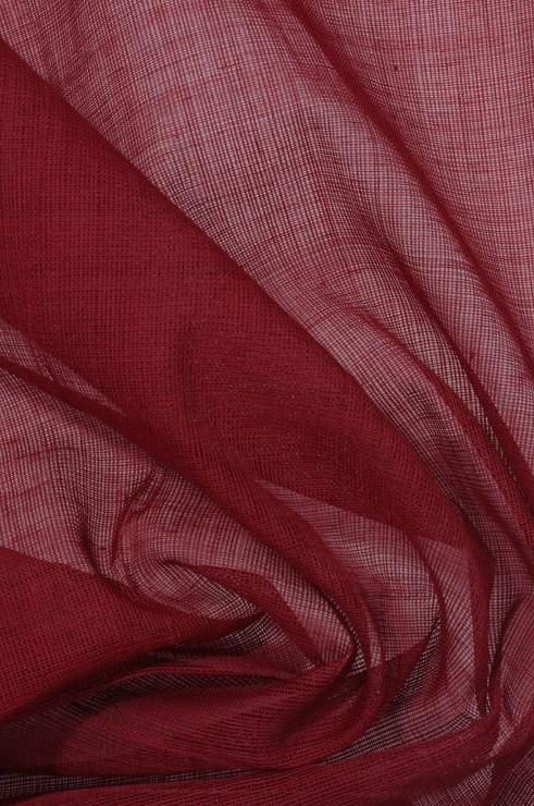 Earth Red Cotton Voile Fabric