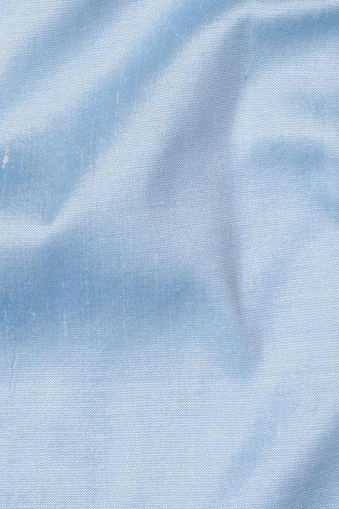 "Eggshell Blue Silk Shantung 54"" Fabric"