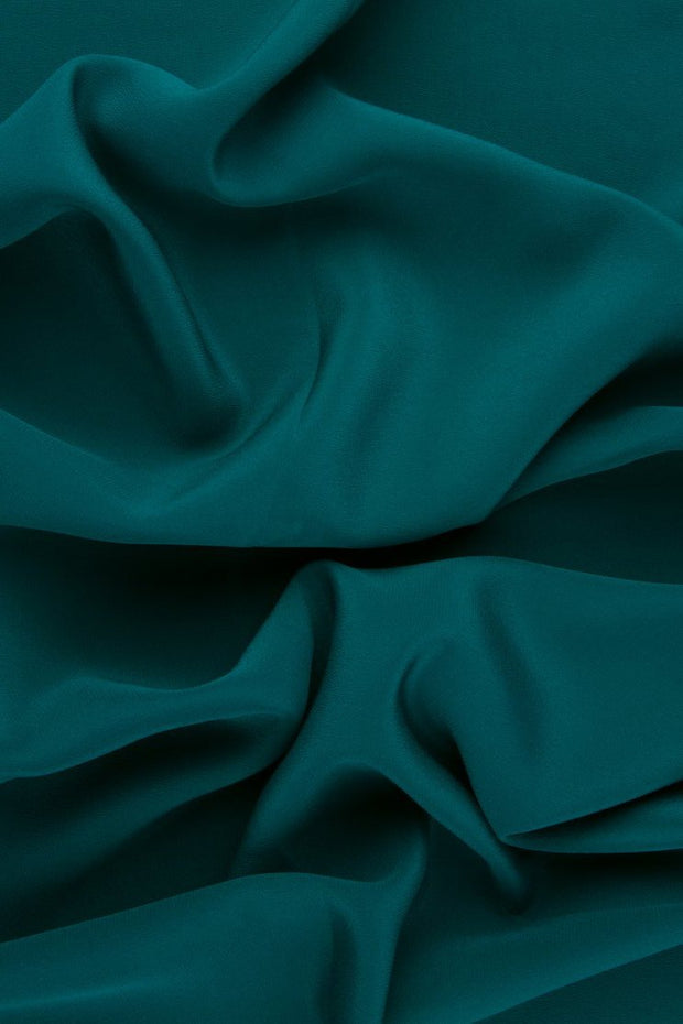 Emerald Silk Crepe de Chine Fabric