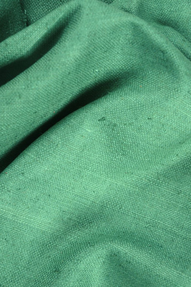 Emerald Green Silk Linen (Matka) Fabric