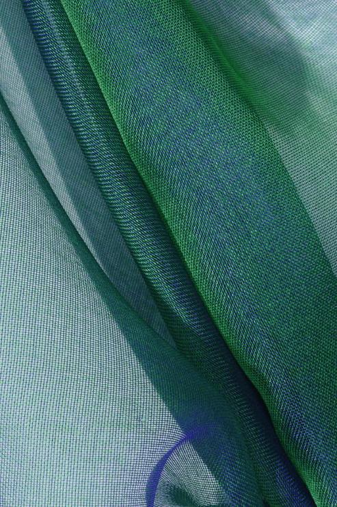 Emerald Green Silk Organza Fabric