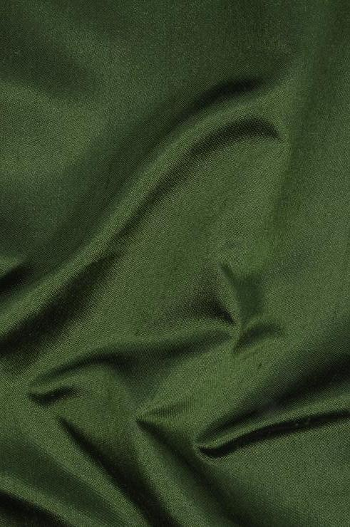 Forest Green Italian Shantung Silk Fabric