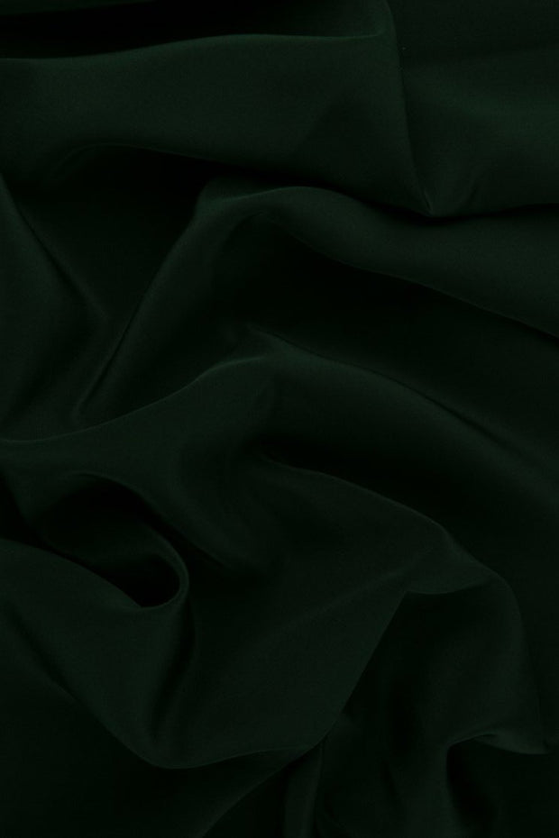 Forest Green Silk Crepe de Chine Fabric