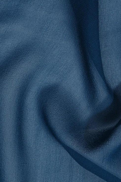 Ocean Blue Silk Georgette Fabric